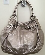 Juicy Couture Large Chain Silver/Gold/Pewter Leather Hobo Handbag NWOT $600