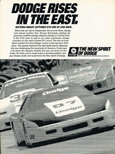 1988 Dodge Daytona Shelby Lime Rock Race - Advertisement Car Print Ad J306
