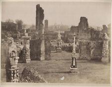 VINTAGE ALBUMEN PHOTO 1880S. ROMAN FORUM CAMPITELLI, ROME, ITALY.