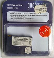 Mobilfunkakku 66148 MP SIEMENS  A55/C55/M55/S55/MC60 SB