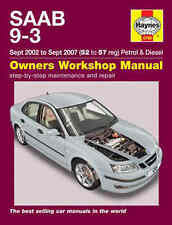 Saab 9-3 93 Repair Manual Haynes Manual Workshop Service Manual  2002-2007 4749