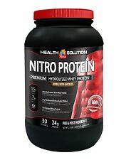 100% Hydrolyzed Whey Protein Isolate Powder - Nitro Protein Chocolate 2 lb