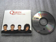 CD-QUEEN-I WANT IT ALL-HANG ON IN THERE-D.BOWIE-(CD SINGLE)-3 TRACK-CD MAXI-//