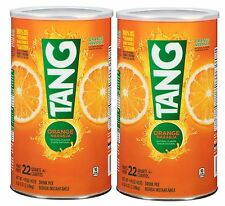 New Tang Orange Flavored Drink Mix Two 72 oz Cans makes 22 Quarts each 44 Qt.