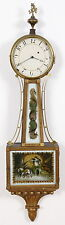 C. 1820 Gold Front Presentation Weight Driven Banjo Clock, Concord MA