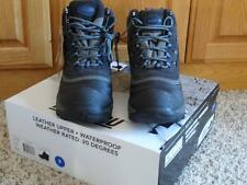NEW Mens KHOMBU WATERPROOF Grey LEATHER SNOW BOOTS      Size 9    THERMOLITE