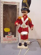 """Vintage Motionett Animated Telco 24"""" Christmas Soldier drummer boy marching band"""