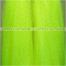 Lime / Large Hank Synthetic Hair Super Hair Fish Fibre Bucktail Fly Bait Jig