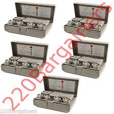 5PK 220V 110V Voltage Converter Adapter Combo 5 Plugs 50w 1600 watt 220 110 Volt