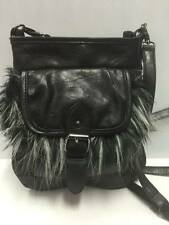 EUC Big Buddha Small Black Crossbody Bag w/Faux Fur, Excellent Condition