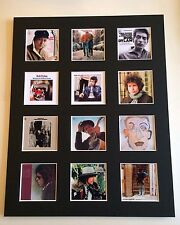 """BOB DYLAN DISCOGRAPHY PICTURE MOUNTED 14"""" By 11"""" READY TO FRAME"""