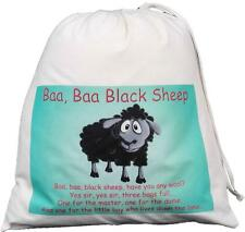 BAA BAA BLACK SHEEP  DRAWSTRING BAG Teaching resource sack STORY / NURSERY RHYME