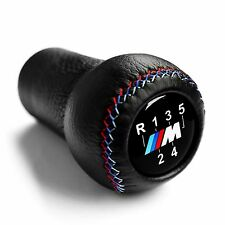 BMW M POWER 5 SPEED GEAR SHIFT KNOB E30 E34 E36 E39 E46 E90 M3 M5 M6 LEATHER NEW