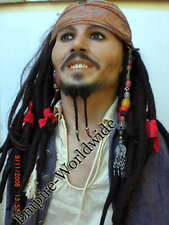 JACK SPARROW SUPER DLX WIG BEADS BANDANA COSTUME HAIR