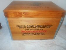 LARGE WOODEN WINCHESTER SHOT GUN CARTRIDGES BOX U.S.A.