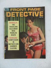 Vintage FRONT PAGE DETECTIVE Magazine May 1962 Dell Publishing Co.