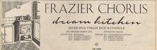 28/1/89Pgn12 Advert: Frazier Chorus 'dream Kitchen' New Single Virgin 4x11