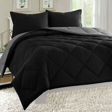 Empire 3pc Reversible Comforter Set Microfiber Quilted Bed Cover Twin Queen King