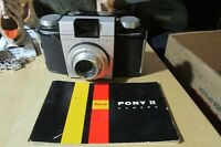 Vintage Kodak Pony II Film Camera With Manual