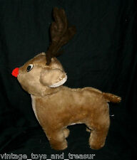 "12"" RUDOLPH THE RED NOSED REINDEER CHRISTMAS TAIWAN STUFFED ANIMAL PLUSH TOY M"