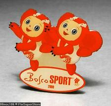 OLYMPIC PINS BADGE 2008 BEIJING CHINA BOSCO SPORT RUSSIA NOC SPORT S SWIM MASCOT