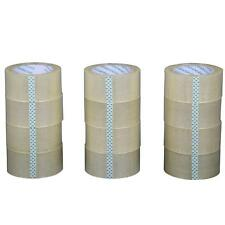 """12 Rolls Box Carton Sealing Packing Packaging Tape 2""""x110 Yards(330' ft) Clear"""