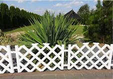 Plastic Garden Fence Panels Boarder Lawn Palisade Edge Patio Fencing WHITE PJPOB