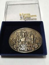 Limited Calgary Exhibition Stampede 1991 Large Heavy Belt Buckle #355 Montana