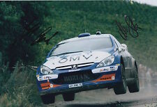 Manfred Stohl and Ilka Minor Hand Signed 12x8 Photo Citroen Xsara Rally 1.