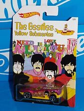 Hot Wheels Wal-Mart The Beatles Yellow Submarine Fast Felion w/ Factory Defect