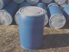 55 gallon PLASTIC removable lever lock lid open top barrel barrels drum drums