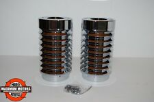BELLOW STYLE FORK SLIDER COVERS CHROME BILLET STREETGLIDE ROADGLIDE ROADKING