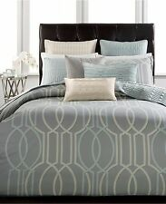Hotel Collection Modern Interlace FULL / QUEEN Duvet Cover Grey A1067