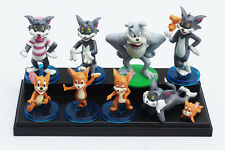 "Tom & Jerry CAKE TOPPER 9pc Set 1""- 3"" Birthday Cake Topper Figurines Set"