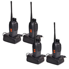 4 Pack Baofeng BF-888S Ham Two-way Ham Radio Handheld Walkie Talkie Black