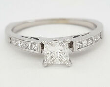 Simon G 0.86 ct 18k White Gold Princess Cut Diamond Engagement Ring