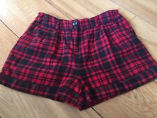 Girls Red And Black Shorts George 11-12 Years