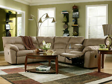BREA - Modern Microfiber Recliner Sofa Couch Sectional Set Living Room Furniture