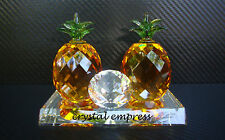 FENG SHUI - GOLDEN PINEAPPLE GLASS FIGURINE (ABUNDANCE)