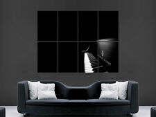 BLACK PIANO MUSIC  HUGE LARGE WALL ART POSTER PICTURE  IMAGE