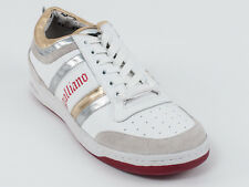 New  Galliano White Leather Soprt Shoes Size 40 US 7 Retail $420