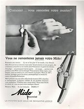 ▬► PUBLICITE ADVERTISING AD Montre Watch MIDO Powerwind (e) 1958