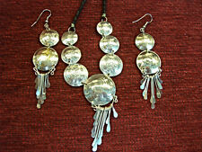 PERUVIAN COIN NECKLACE AND EARRINGS - INTERESTING AND WELL MADE - WITH DANGLES