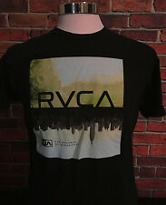 Men's RVCA T-shirt The Balance Of Opposites Black Size Large 100% Cotton