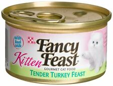Fancy Feast Wet Cat Food, Kitten, Tender Turkey Feast, 3-Ounce Can, Pack of 24