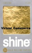 NEW Shine 2 Sheet Pack 24K 24 Karat Gold Rolling Paper Papers Package QUICK SHIP