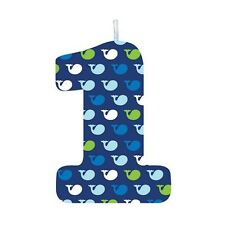 Ocean Baby Whale Happy 1st Birthday Party Cake Candle