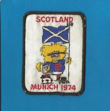 Vintage Scotland 1974 World Cup Soccer Football Hat Jacket Hoodie Patch Crest