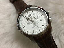 Imported Designer Tissot 1853 Chronograph Men Wrist Watch (Leather Strap)