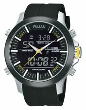 Pulsar Men's PW6001 Analog Digital World Time Alarm Chronograph Quartz Watch